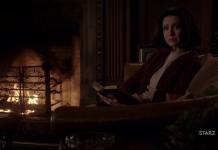 Caitriona Balfe nel trailer della terza stagione di Oulander, screenshot youtube