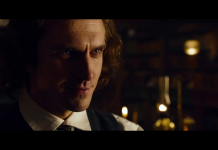 Dan Stevens (Charles Dickens), film The Man Who Invented Christmas, fonte screenshot youtube