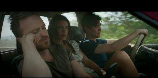 "Aaron Paul, Emily Ratajkowski e Riccardo Scamarcio in ""Welcome Home"", fonte screenshot youtube"